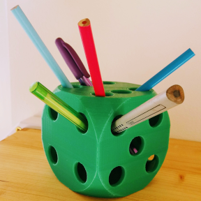 Dice Pencil Holder